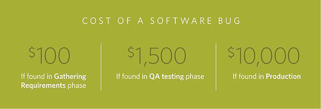 The Cost of a Software Bug