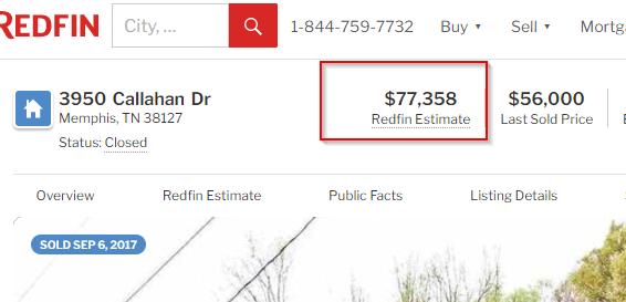 Redfin estimate.