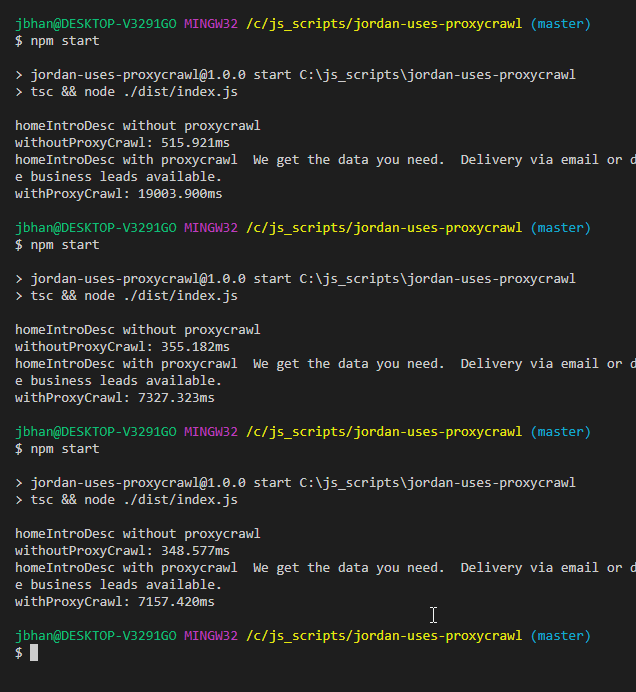 proxycrawl scraping a javascript site